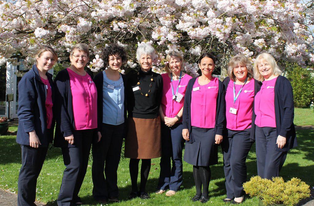 Hospiscare's Exeter CNS team in the garden