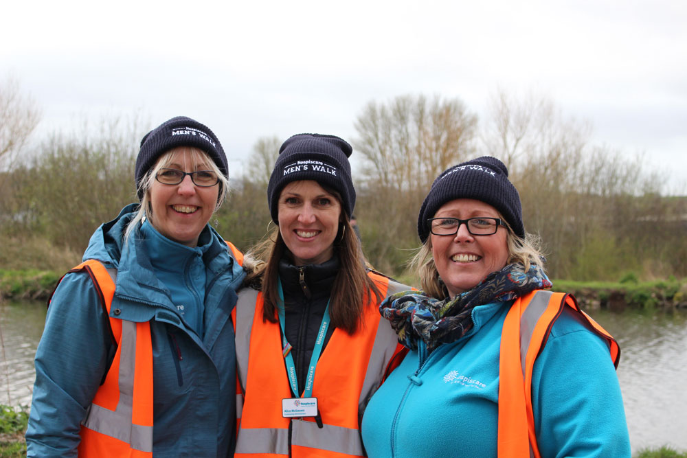 Three Hospiscare marshals at the Men's Walk