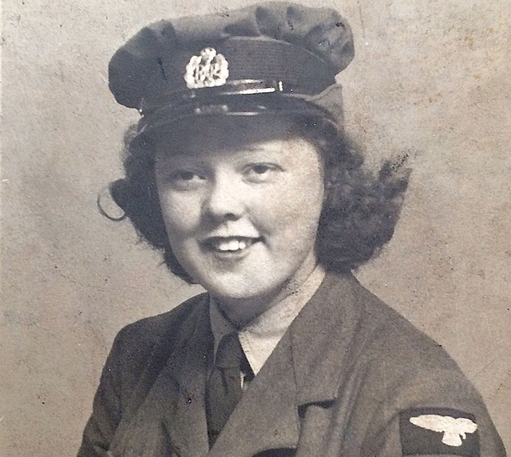 Granny Joan in WRAF uniform