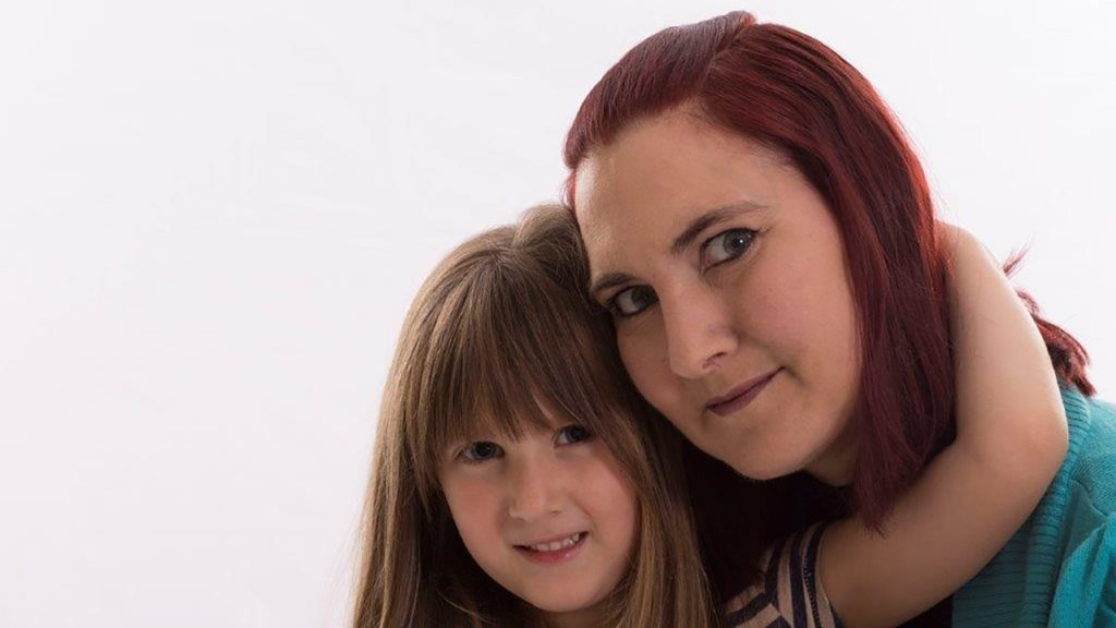 Hospiscare patient Kirsty with her daughter Aimee