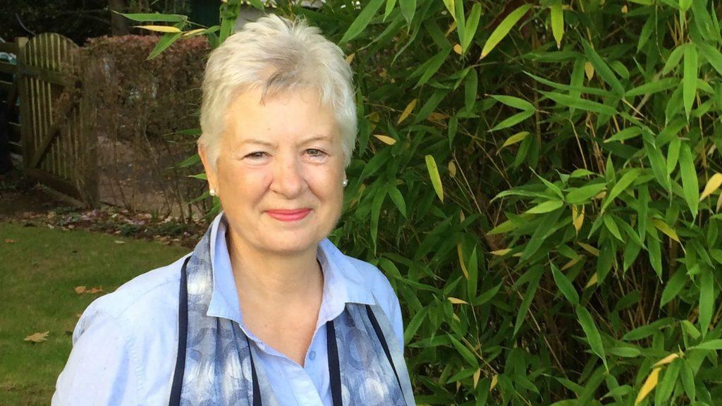 Hospiscare bereavement volunteer Liz in the garden