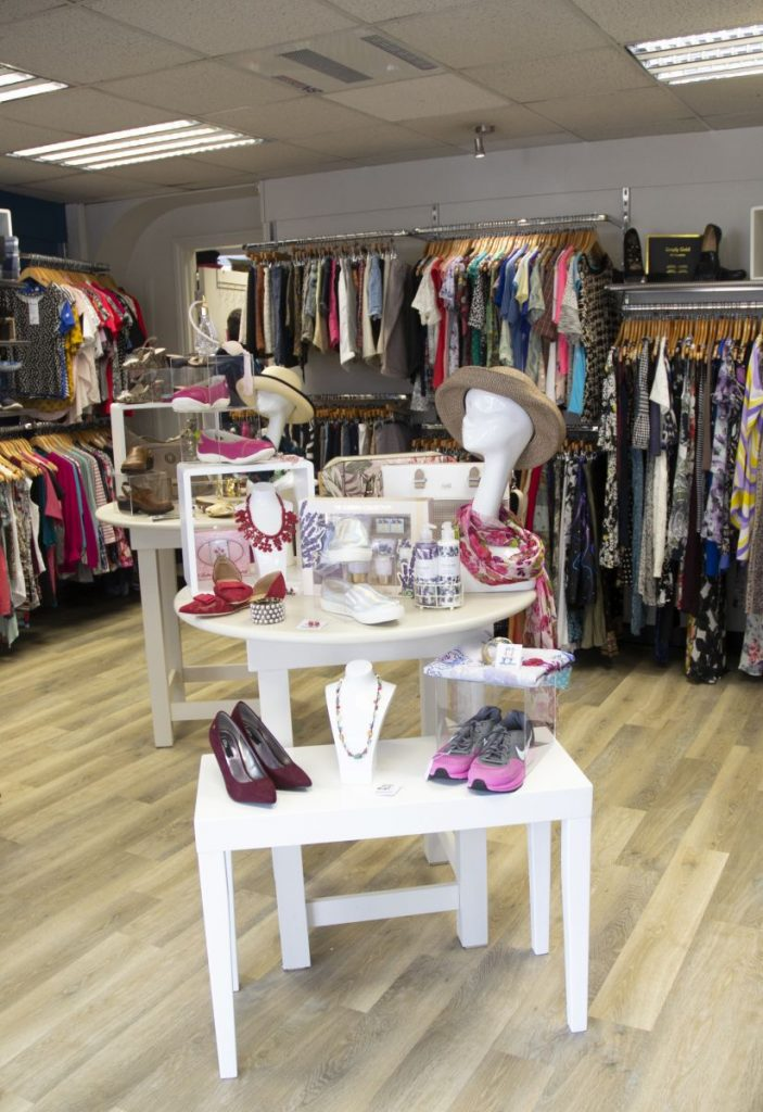 Items in the Hospiscare Ottery charity shop