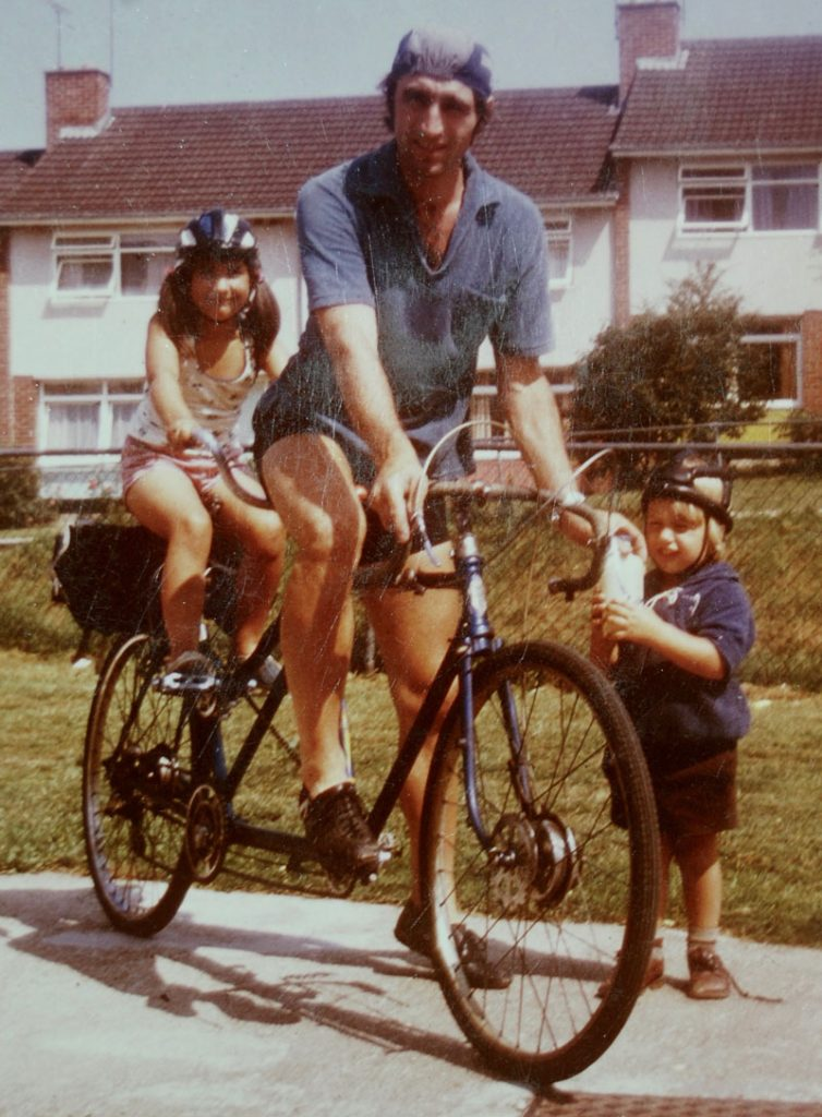 Hospiscare patient Richard cycling with his family