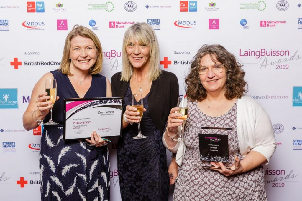 Hospiscare staff at the LaingBuisson awards