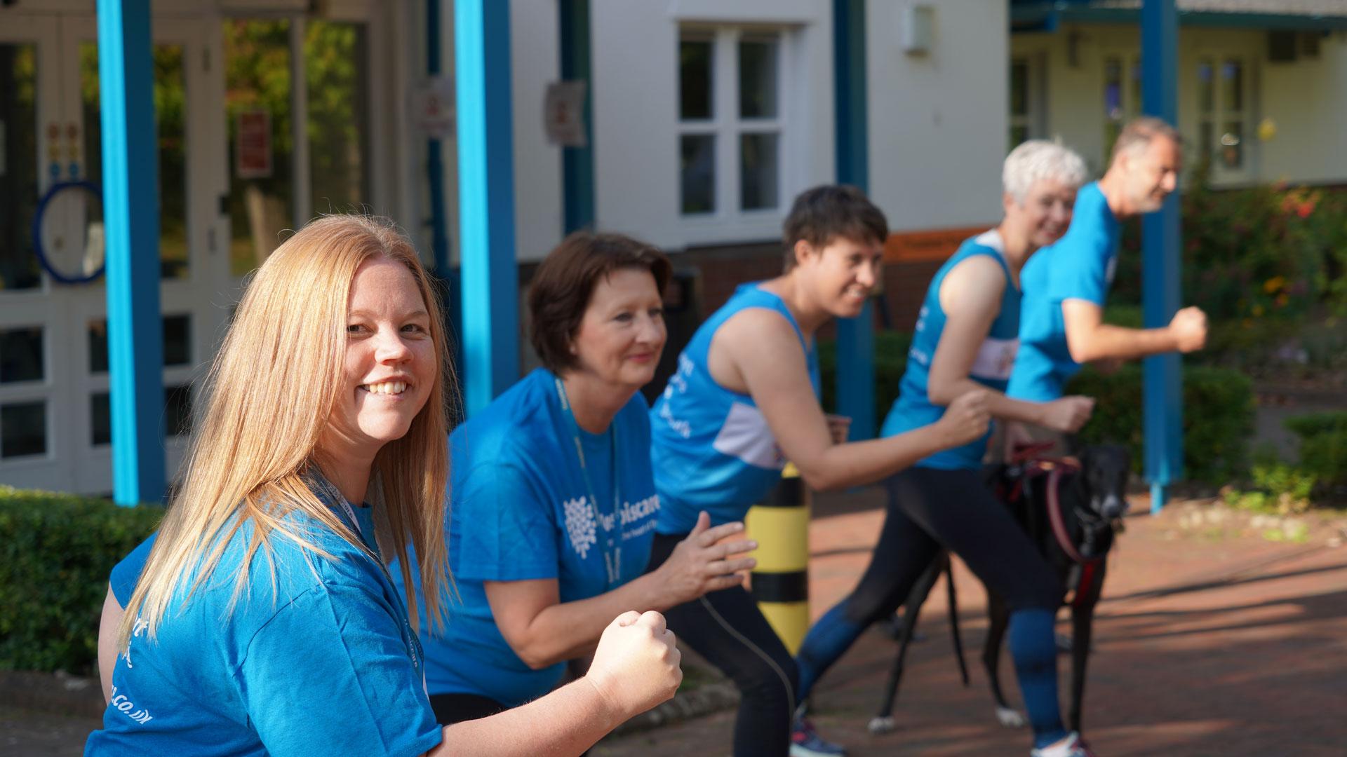 'Team Hospiscare' take on Marathon in a Month