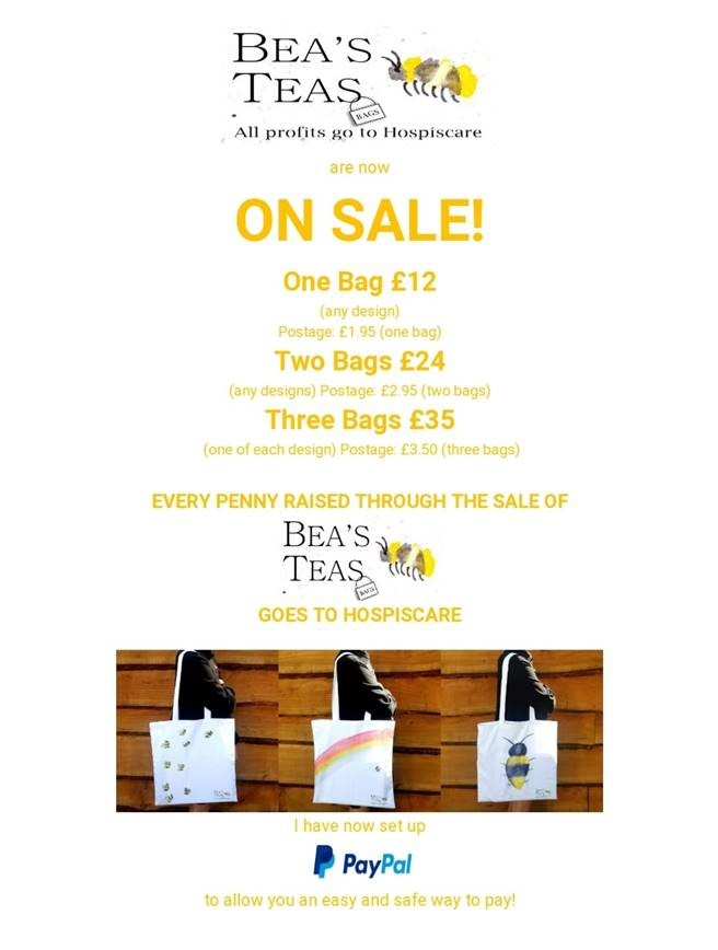 A poster advertising Bea's Teas bags