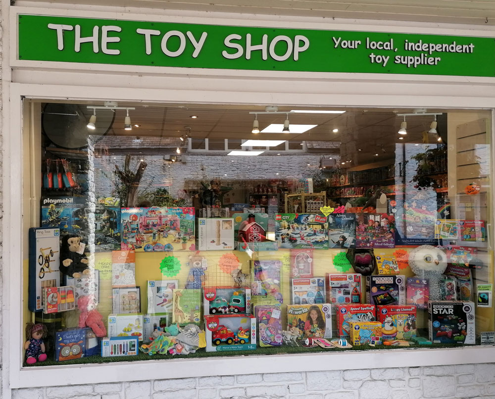 The exterior of a toy shop