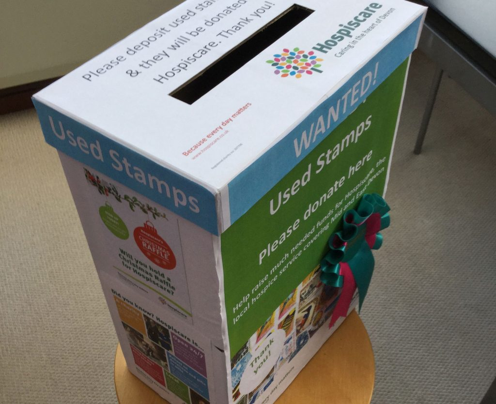A stamp collection box for Hospiscare