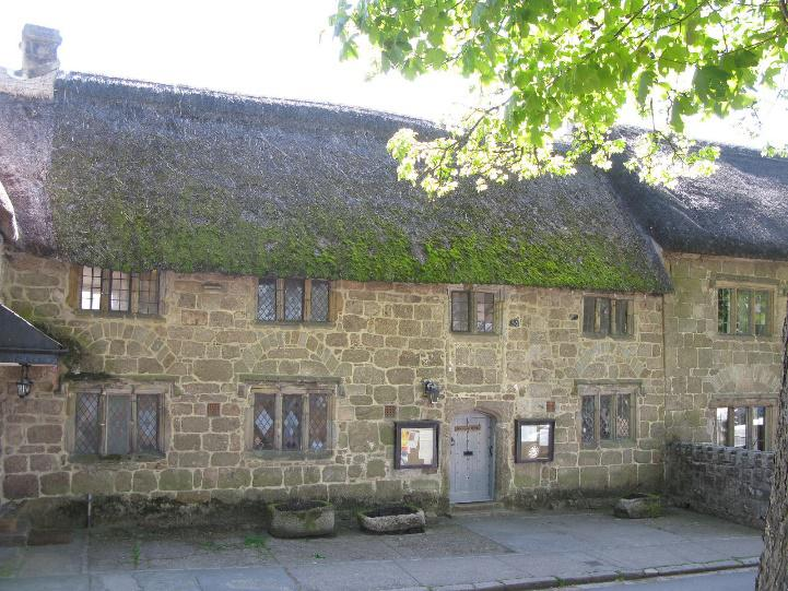 A stone and thatch cottage