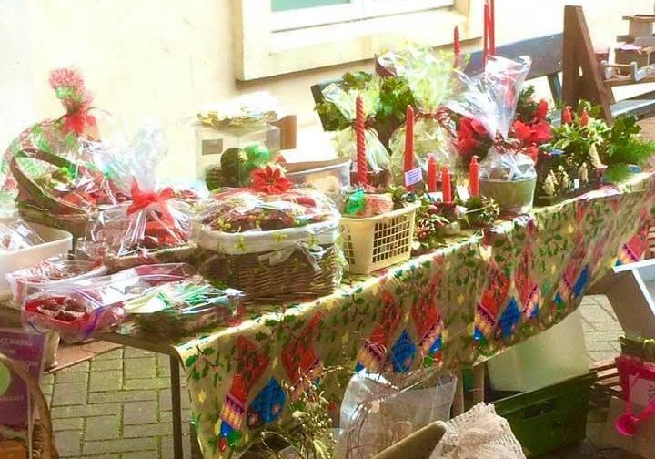 A Christmas cake sale