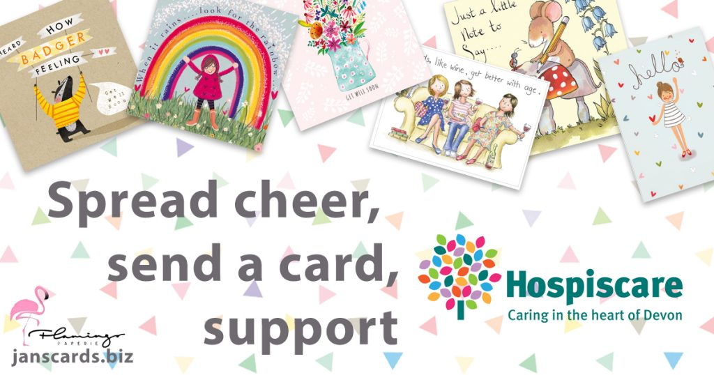 A support poster for Hospiscare selling cards