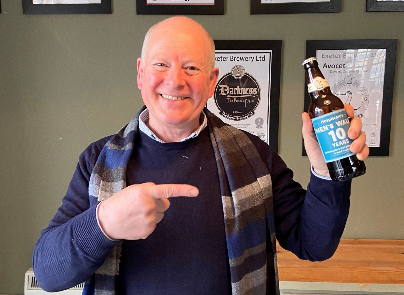 Cheers to ten years of Men's Walk with special anniversary beer