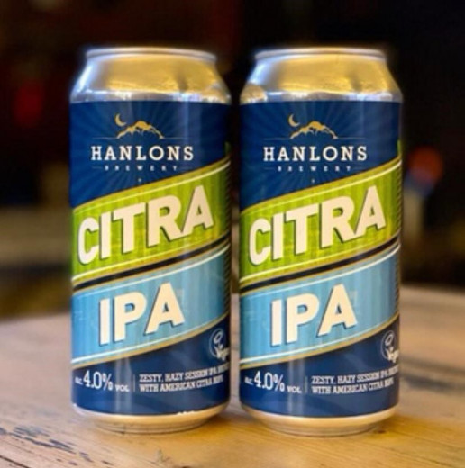 Two cans of Hanlons Citra IPA