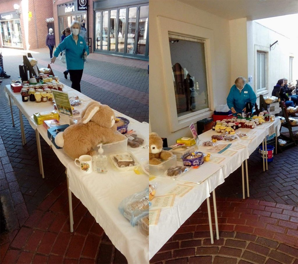 An outdoor table top sale
