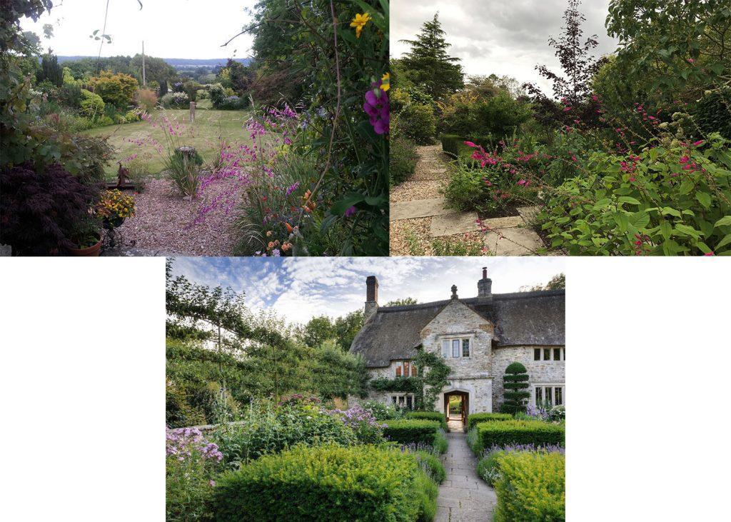 Three country gardens