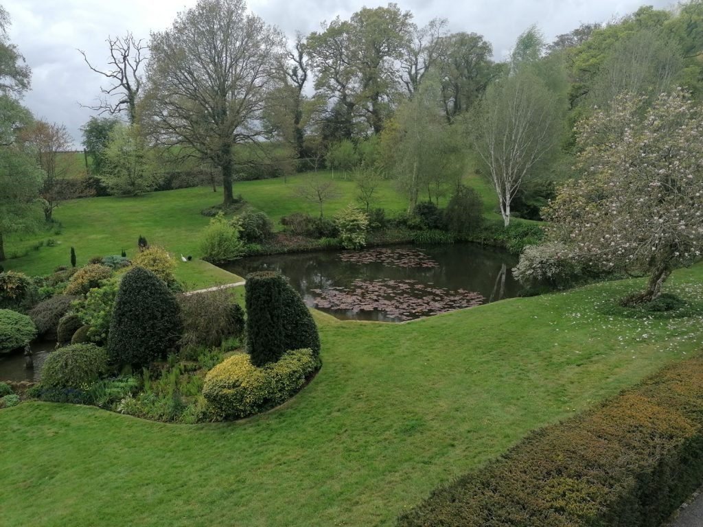 A lake and country garden