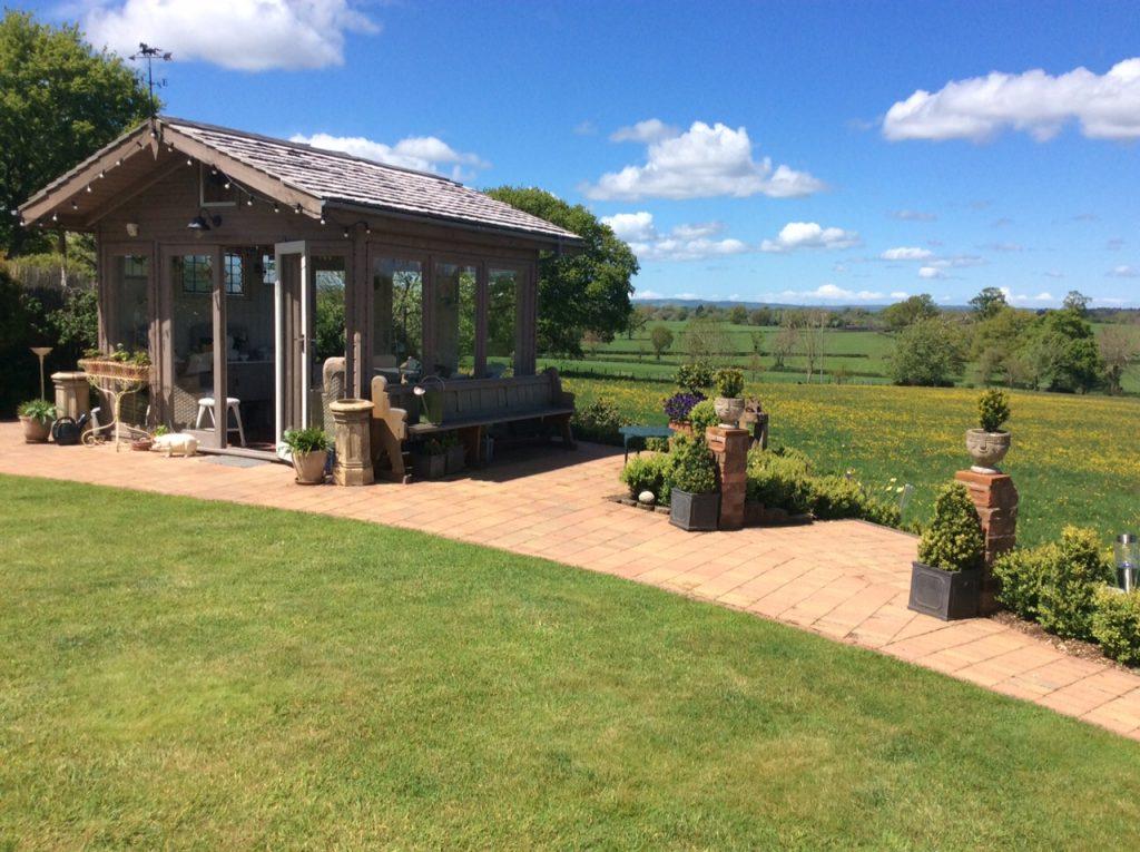 A garden house on a sunny day