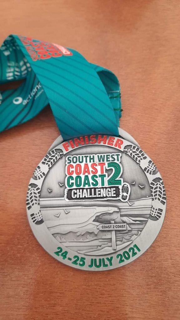 A South West Coast 2 Coast medal