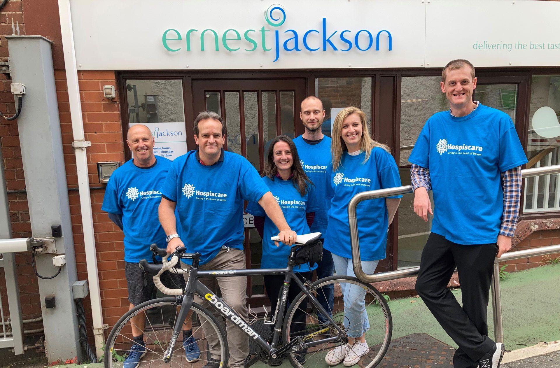 Tour de Devon sponsor Ernest Jackson are determined to go the distance for Hospiscare