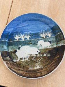 A hand painted plate