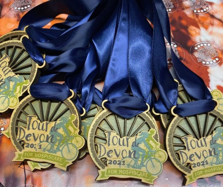 Hospiscare Tour de Devon medals